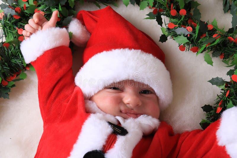 Χριστουγεννιάτικο χαμόγελο στοκ εικόνες