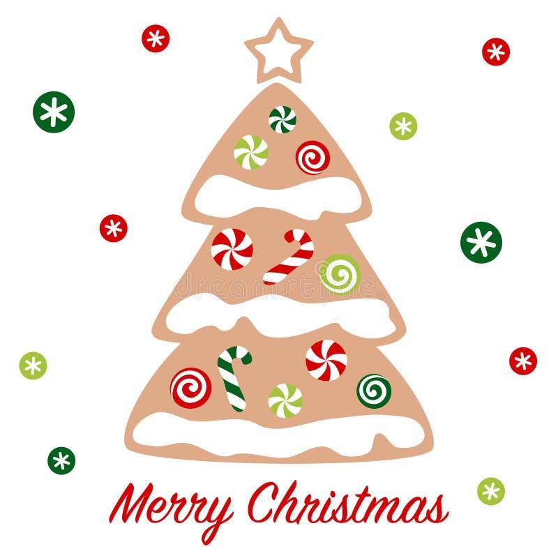 Χριστουγεννιάτικο ψωμί με γλυκά και γλυκά διανυσματική απεικόνιση