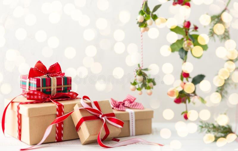 χριστουγεννιάτικο δώρο weihnachtspakete στοκ εικόνες