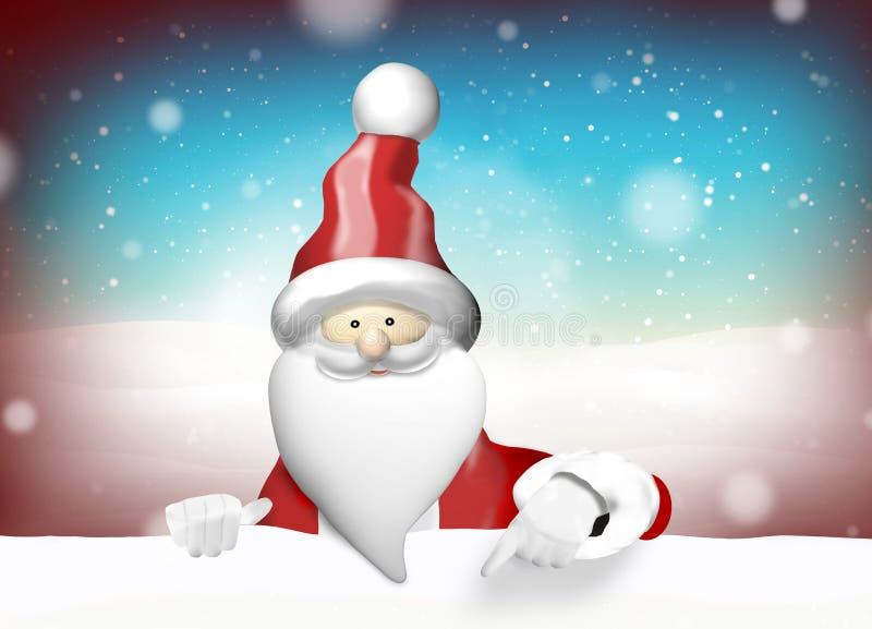 Χριστούγεννα Άγιου Βασίλη διανυσματική απεικόνιση
