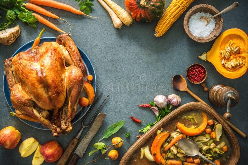 Χριστούγεννα ή ημέρα των ευχαριστιών Τουρκία στοκ εικόνα