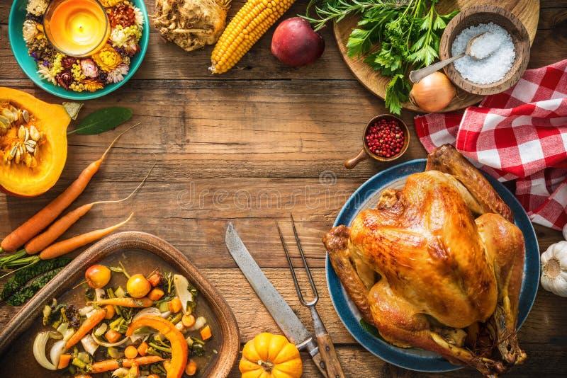 Χριστούγεννα ή ημέρα των ευχαριστιών Τουρκία στοκ φωτογραφίες