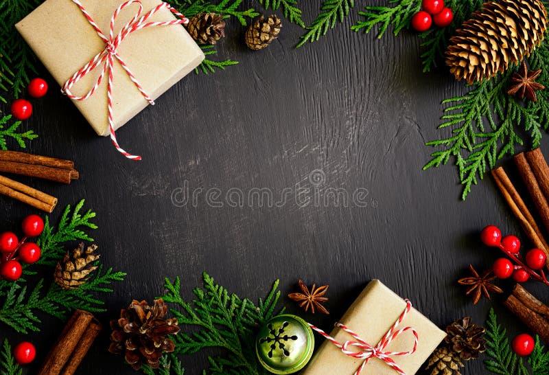 Χριστούγεννα ή νέα ανασκόπηση έτους στοκ φωτογραφία