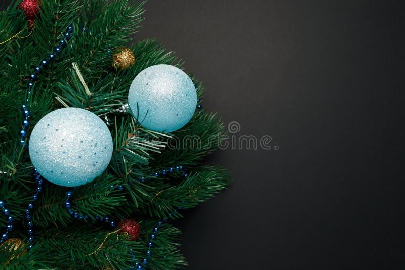 Χριστούγεννα ή νέο υπόβαθρο διακοσμήσεων έτους στοκ εικόνες με δικαίωμα ελεύθερης χρήσης