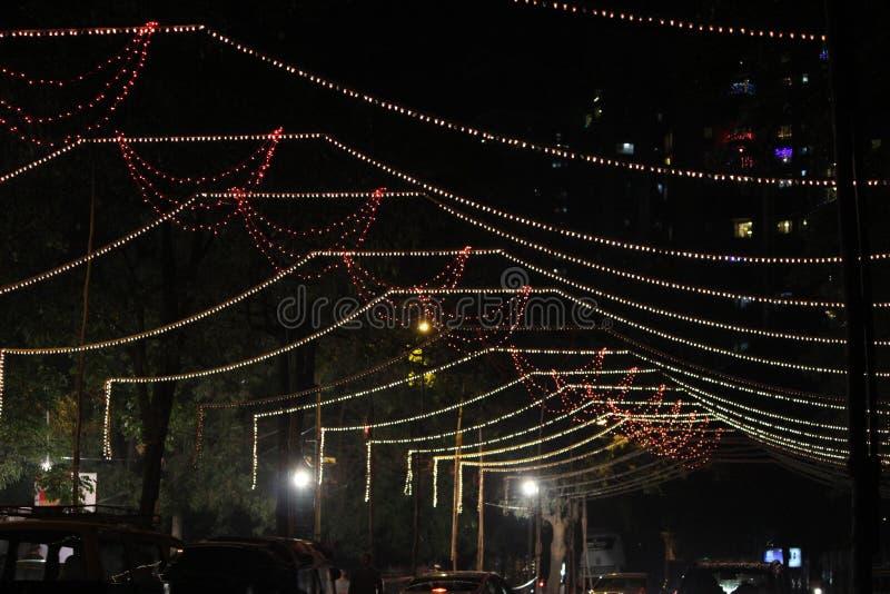 Χριστούγεννα ή τελετή φωτισμού δέντρων Diwali στοκ φωτογραφία με δικαίωμα ελεύθερης χρήσης