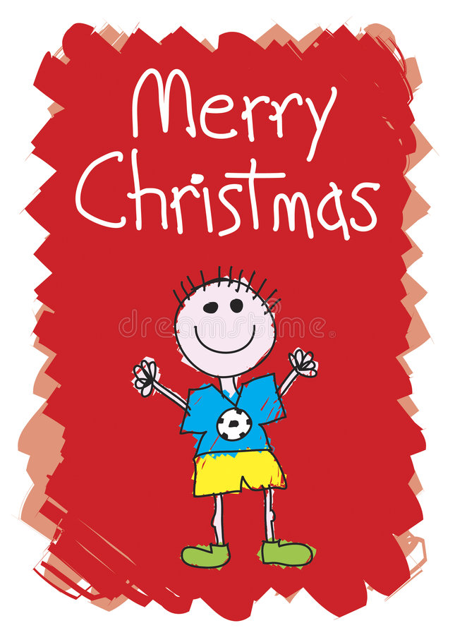 Χριστούγεννα αγοριών εύθ&up διανυσματική απεικόνιση