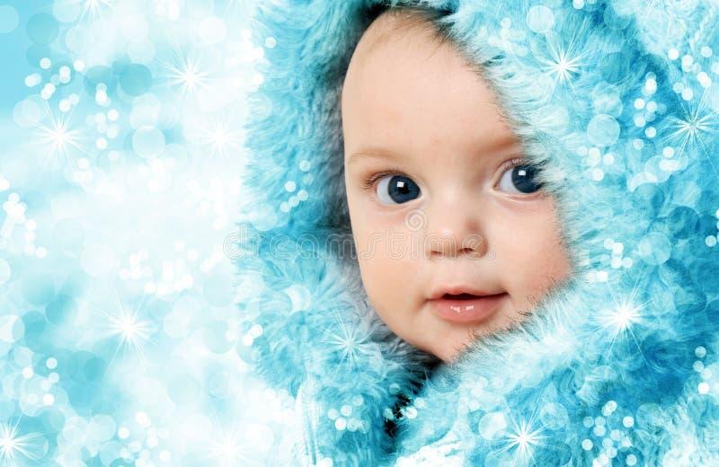 Χριστούγεννα ανασκόπησης μωρών που απομονώνονται πέρα από το λευκό στοκ εικόνα