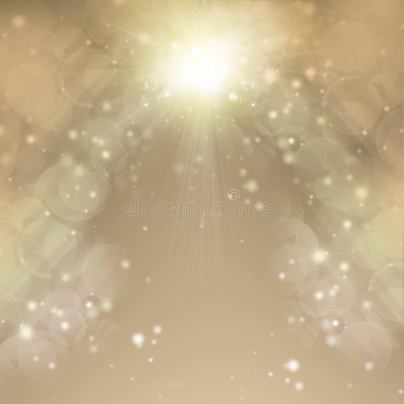 Χριστούγεννα ανασκόπησης χρυσά abstract background holiday Θολωμένο Bokeh ελεύθερη απεικόνιση δικαιώματος