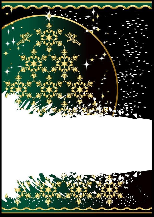 Χριστούγεννα ανασκόπησης grunge απεικόνιση αποθεμάτων