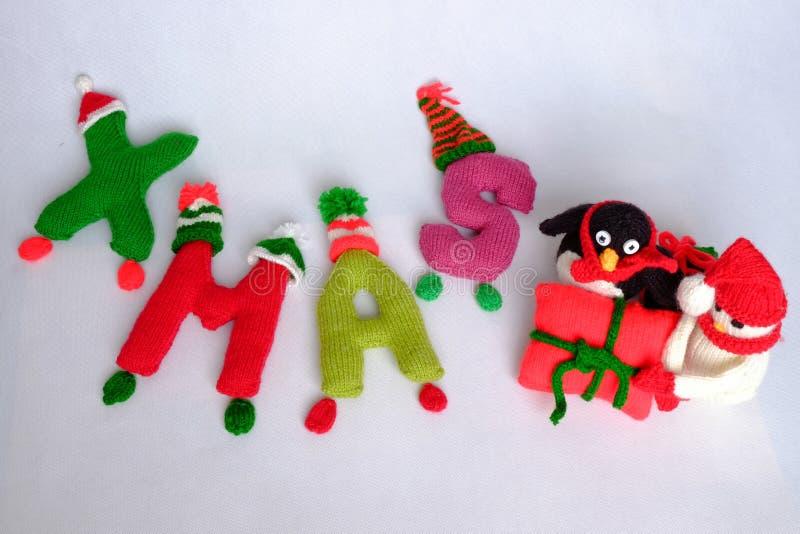Χριστούγεννα, αλφάβητο Χριστουγέννων, χειροποίητος, πλεκτό, noel δώρο στοκ φωτογραφίες με δικαίωμα ελεύθερης χρήσης