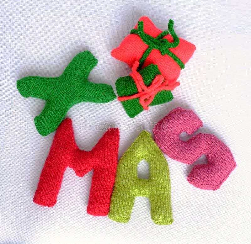 Χριστούγεννα, αλφάβητο Χριστουγέννων, χειροποίητος, πλεκτό, noel δώρο στοκ εικόνες