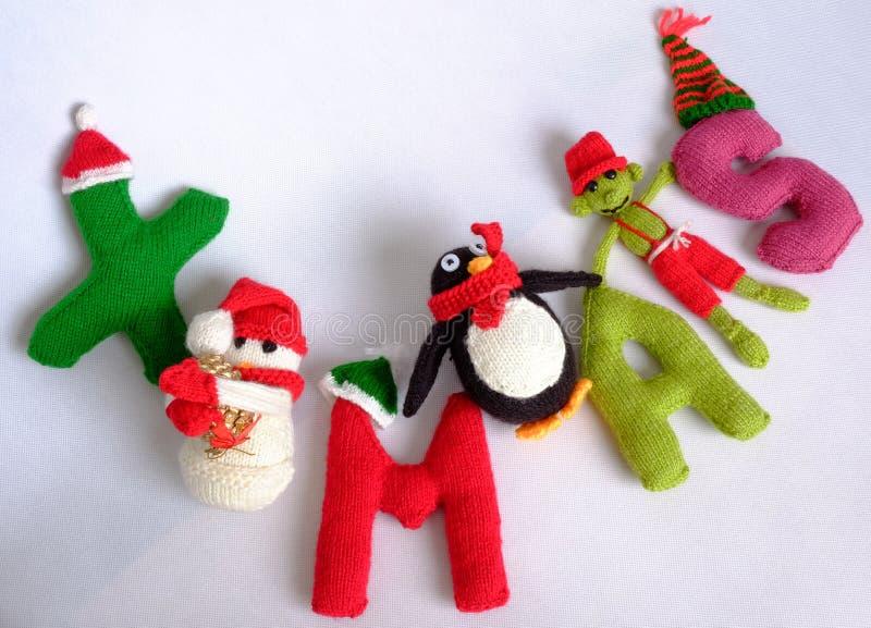 Χριστούγεννα, αλφάβητο Χριστουγέννων, χειροποίητος, πλεκτό, noel δώρο στοκ εικόνα με δικαίωμα ελεύθερης χρήσης