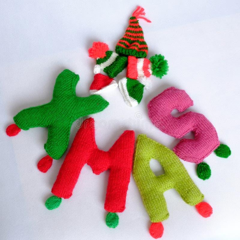 Χριστούγεννα, αλφάβητο Χριστουγέννων, χειροποίητος, πλεκτό, noel δώρο στοκ φωτογραφία με δικαίωμα ελεύθερης χρήσης