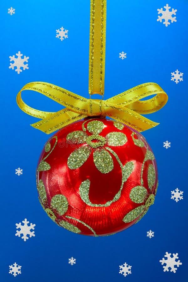 Χριστούγεννα βολβών snoweflakes στοκ φωτογραφίες με δικαίωμα ελεύθερης χρήσης