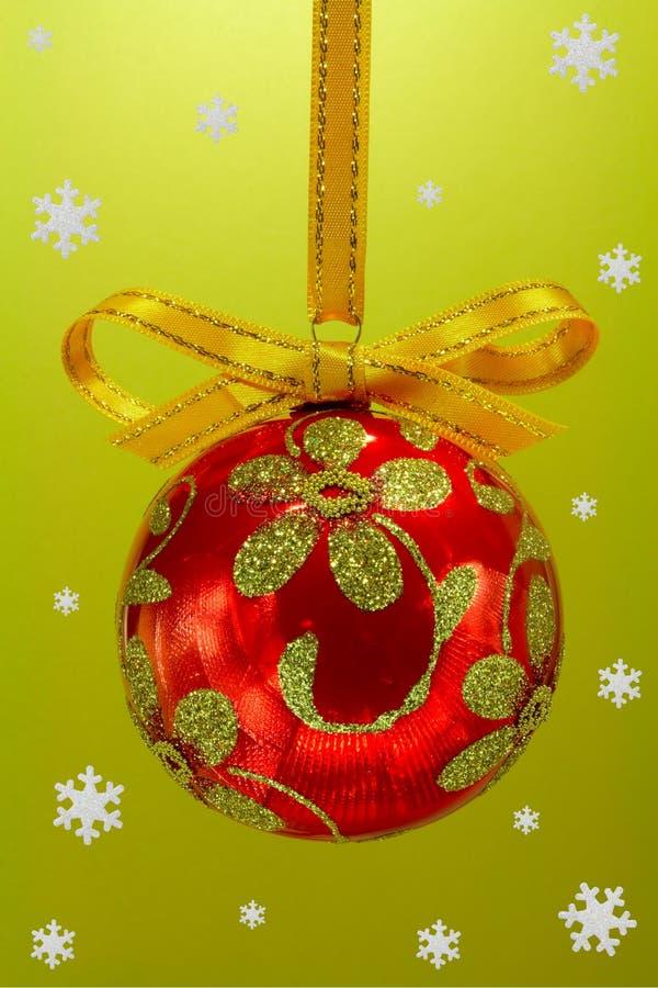 Χριστούγεννα βολβών snoweflakes στοκ εικόνα