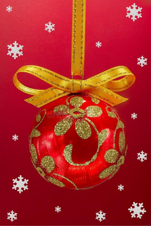 Χριστούγεννα βολβών snoweflakes στοκ εικόνες με δικαίωμα ελεύθερης χρήσης