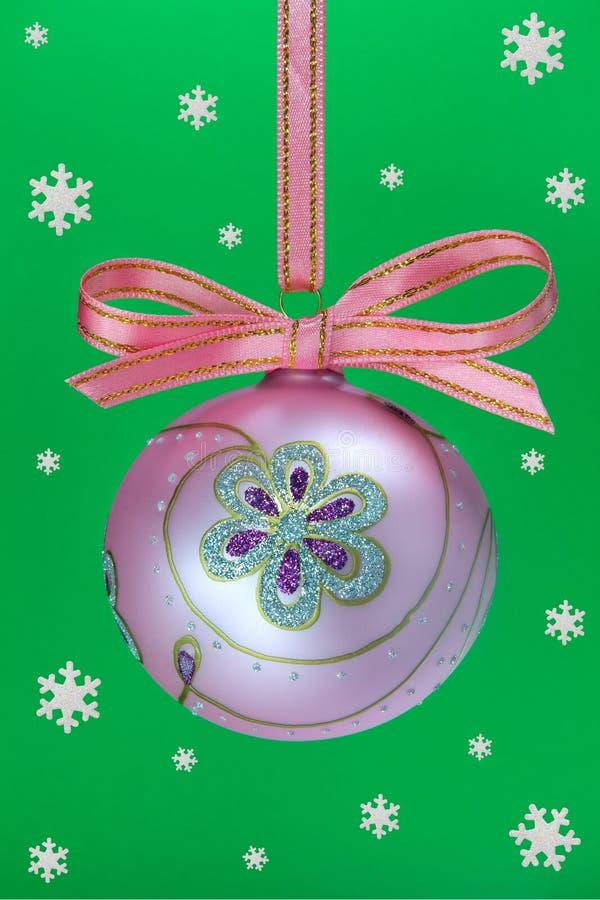 Χριστούγεννα βολβών snoweflakes στοκ εικόνα με δικαίωμα ελεύθερης χρήσης