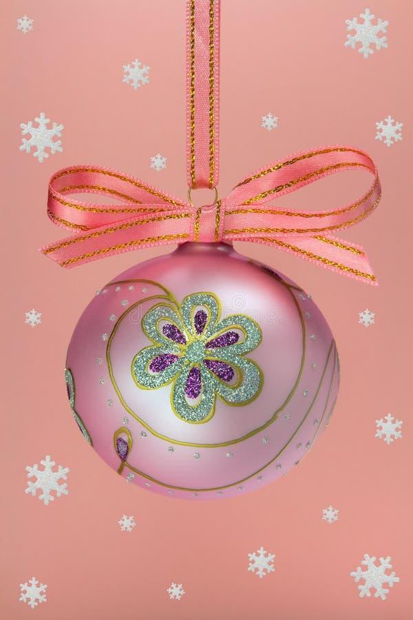 Χριστούγεννα βολβών snoweflakes στοκ φωτογραφία