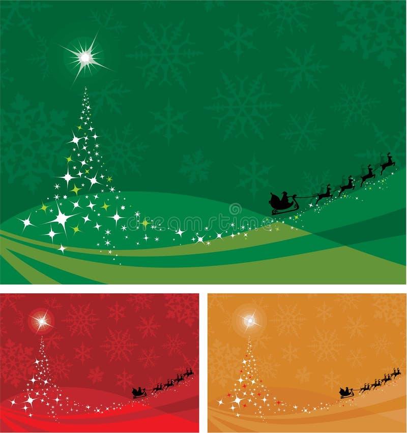 Χριστούγεννα δέντρων πλαι& διανυσματική απεικόνιση
