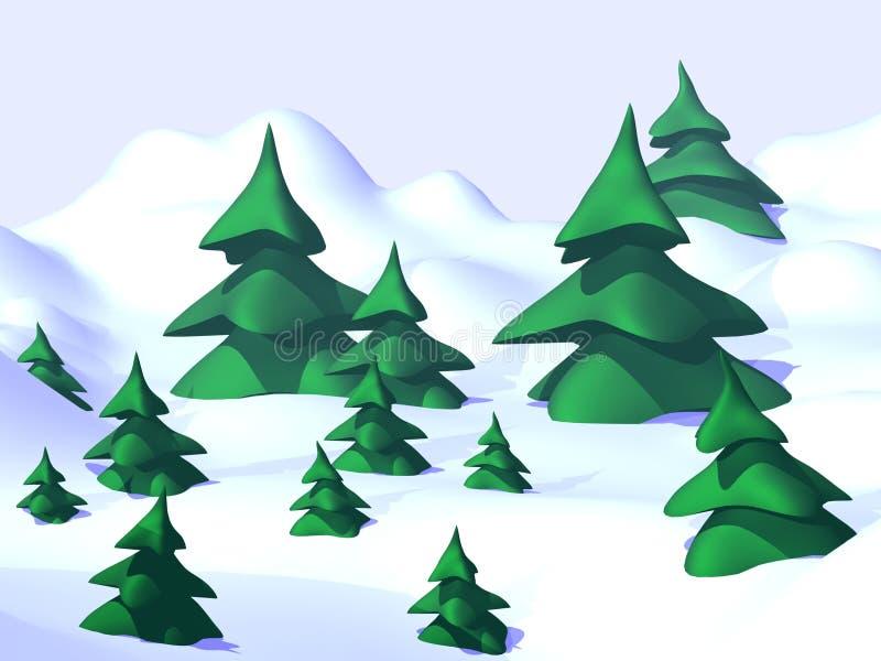 Χριστούγεννα δέντρων διανυσματική απεικόνιση