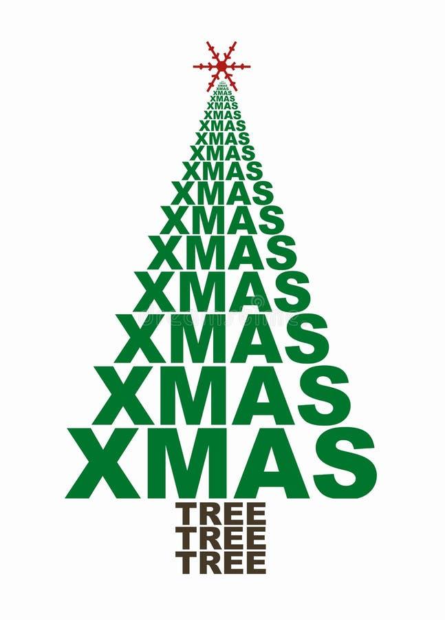 Χριστούγεννα δέντρων ελεύθερη απεικόνιση δικαιώματος
