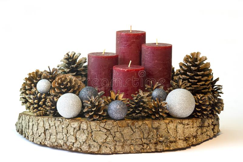 Χριστούγεννα, διακόσμηση εμφάνισης στοκ φωτογραφία