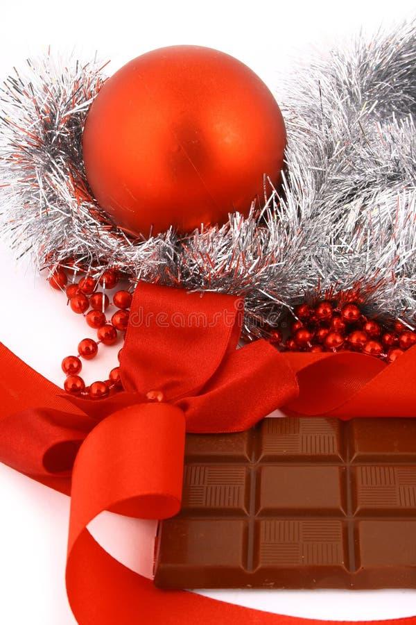 Χριστούγεννα δώρων σοκολάτας στοκ εικόνες