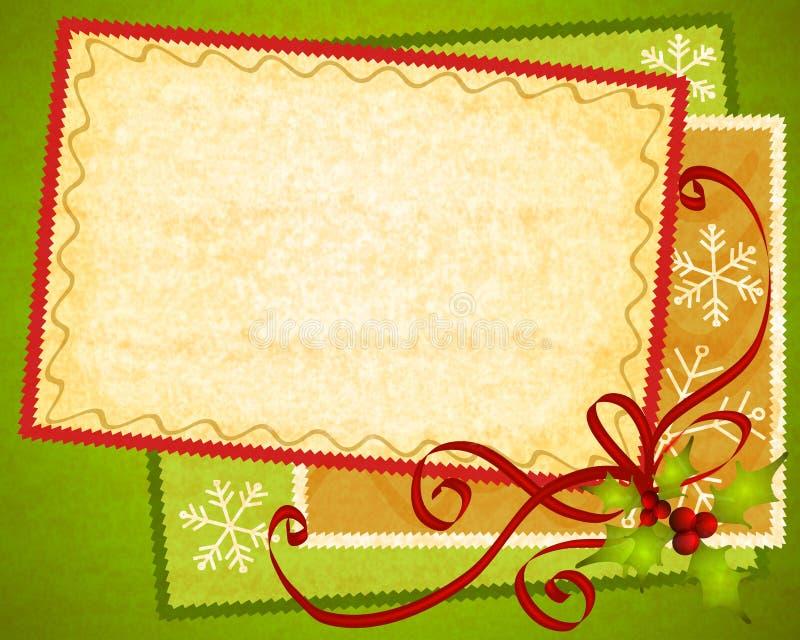 Χριστούγεννα εγγράφου 2 καρτών ανασκόπησης