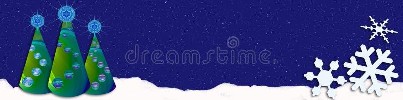 Χριστούγεννα εμβλημάτων χιονώδη απεικόνιση αποθεμάτων