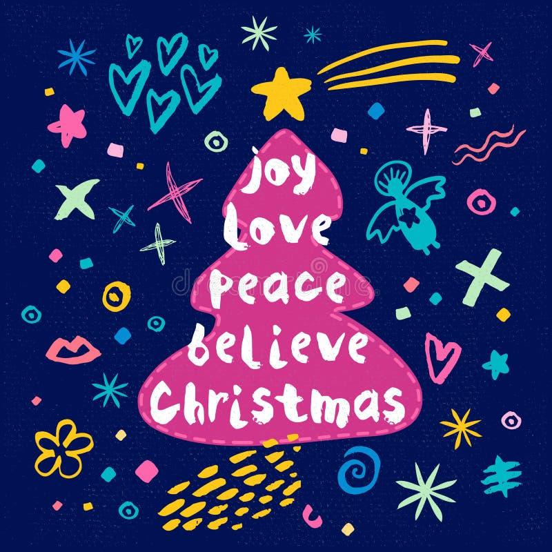 Χριστούγεννα εύθυμα καλή χρονιά ελεύθερη απεικόνιση δικαιώματος