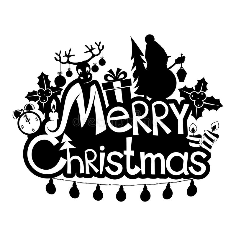 Χριστούγεννα εύθυμα απεικόνιση αποθεμάτων