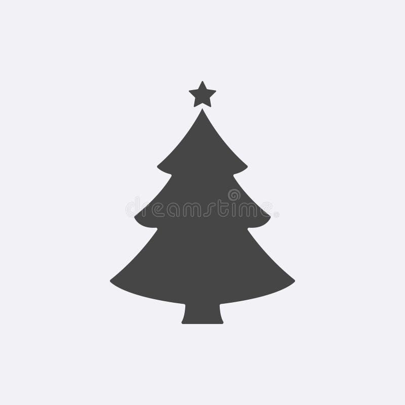 Χριστούγεννα η διανυσματική έκδοση δέντρων χαρτοφυλακίων μου Σύγχρονο επίπεδο εικονόγραμμα, έννοια Διαδικτύου Καθιερώνον τη μόδα  διανυσματική απεικόνιση