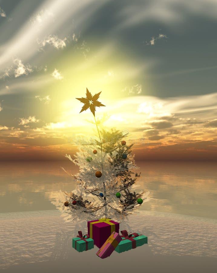 Χριστούγεννα η διανυσματική έκδοση δέντρων χαρτοφυλακίων μου απεικόνιση αποθεμάτων