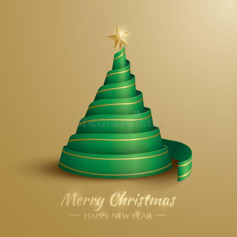 Χριστούγεννα η διανυσματική έκδοση δέντρων χαρτοφυλακίων μου Χριστούγεννα εύθυμα απεικόνιση αποθεμάτων
