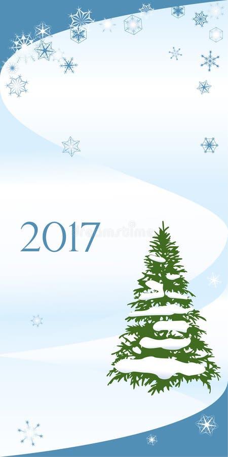 Χριστούγεννα και κάρτα συγχαρητηρίων καλής χρονιάς απεικόνιση αποθεμάτων