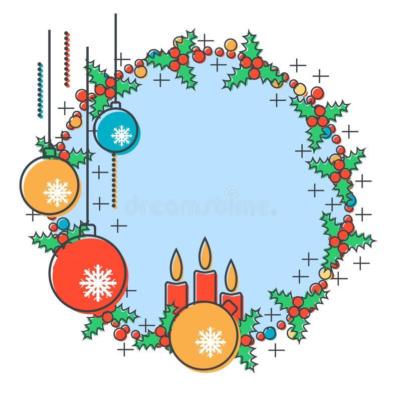 Download Χριστούγεννα και νέα διανυσματική απεικόνιση έτους Διανυσματική απεικόνιση - εικονογραφία από εικονίδιο, ήπια: 62708206