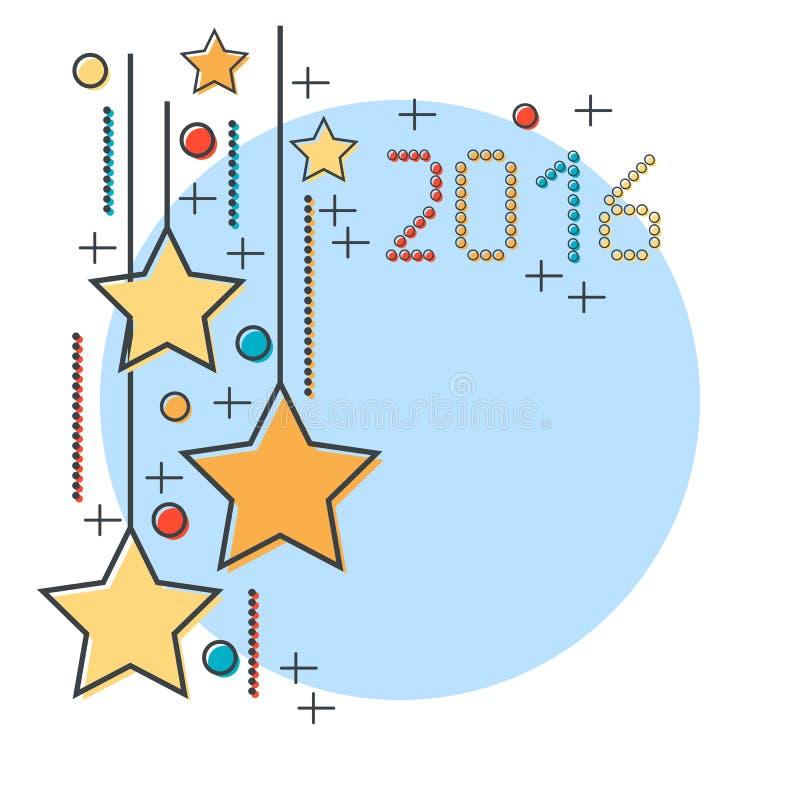 Download Χριστούγεννα και νέα διανυσματική απεικόνιση έτους 2016 Διανυσματική απεικόνιση - εικονογραφία από εορτασμός, κάρτα: 62708243