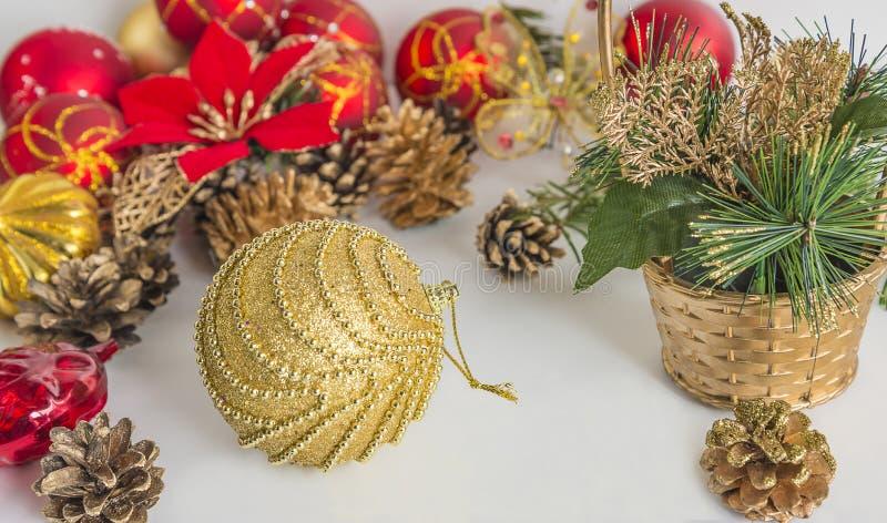 Χριστούγεννα και νέα σύνθεση έτους στοκ εικόνα με δικαίωμα ελεύθερης χρήσης