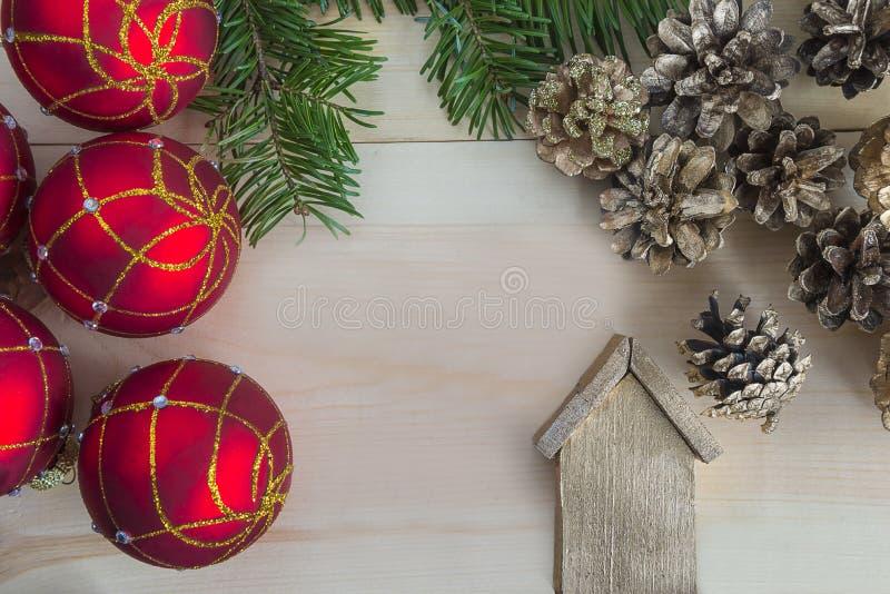 Χριστούγεννα και νέα σύνθεση έτους στοκ εικόνα