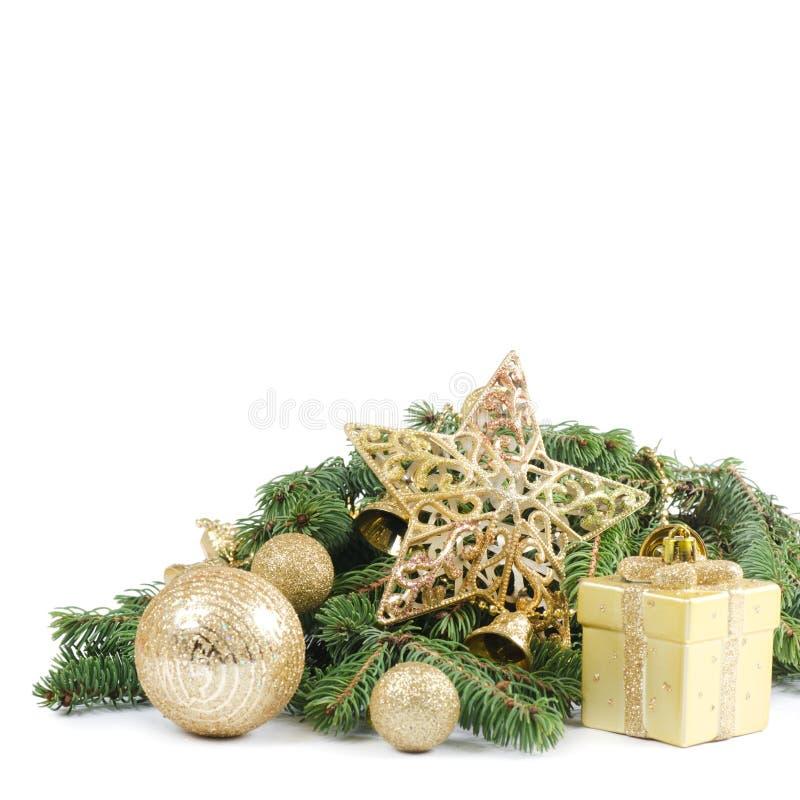 Χριστούγεννα και νέα σύνορα έτους στοκ φωτογραφία