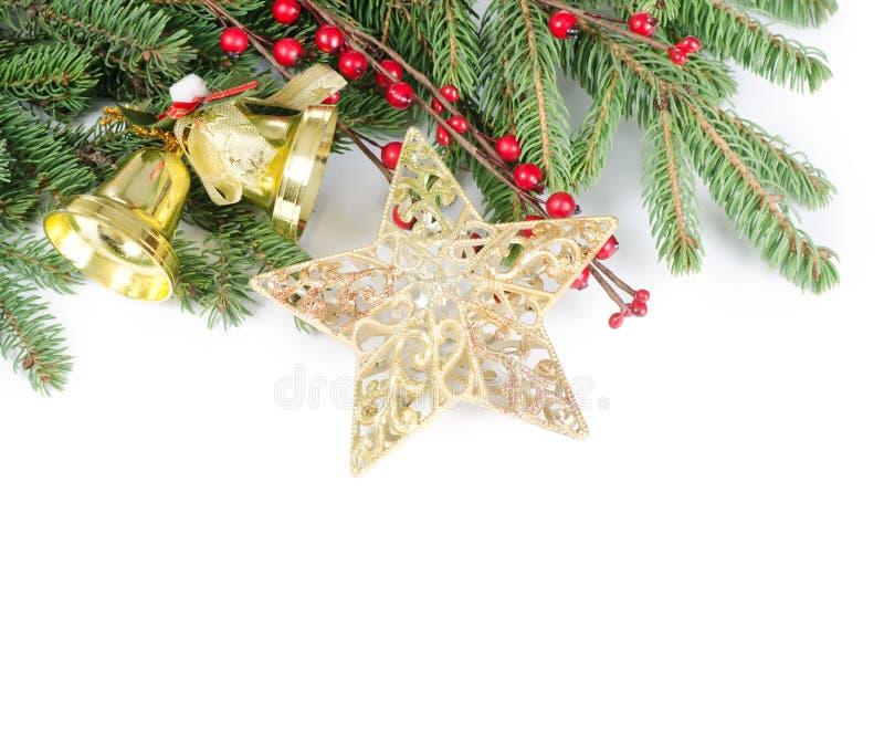 Χριστούγεννα και νέα σύνορα έτους στοκ εικόνα με δικαίωμα ελεύθερης χρήσης
