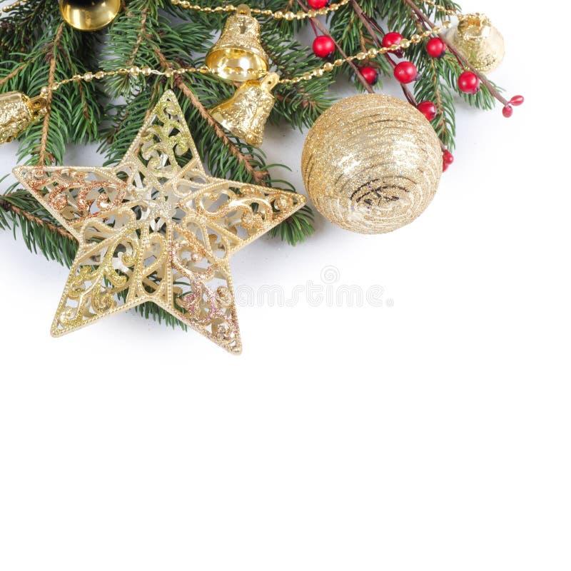 Χριστούγεννα και νέα σύνορα έτους στοκ εικόνες με δικαίωμα ελεύθερης χρήσης
