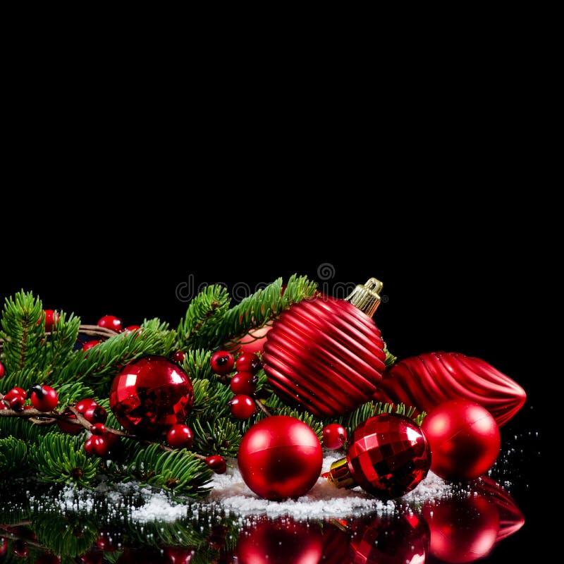 Χριστούγεννα και νέα σύνορα έτους στοκ εικόνες