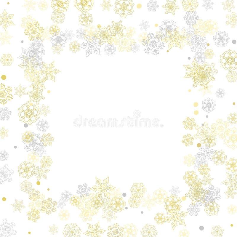 Χριστούγεννα και νέα snowflakes έτους διανυσματική απεικόνιση
