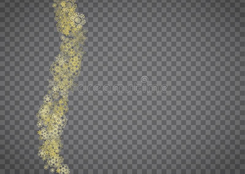 Χριστούγεννα και νέα snowflakes έτους απεικόνιση αποθεμάτων