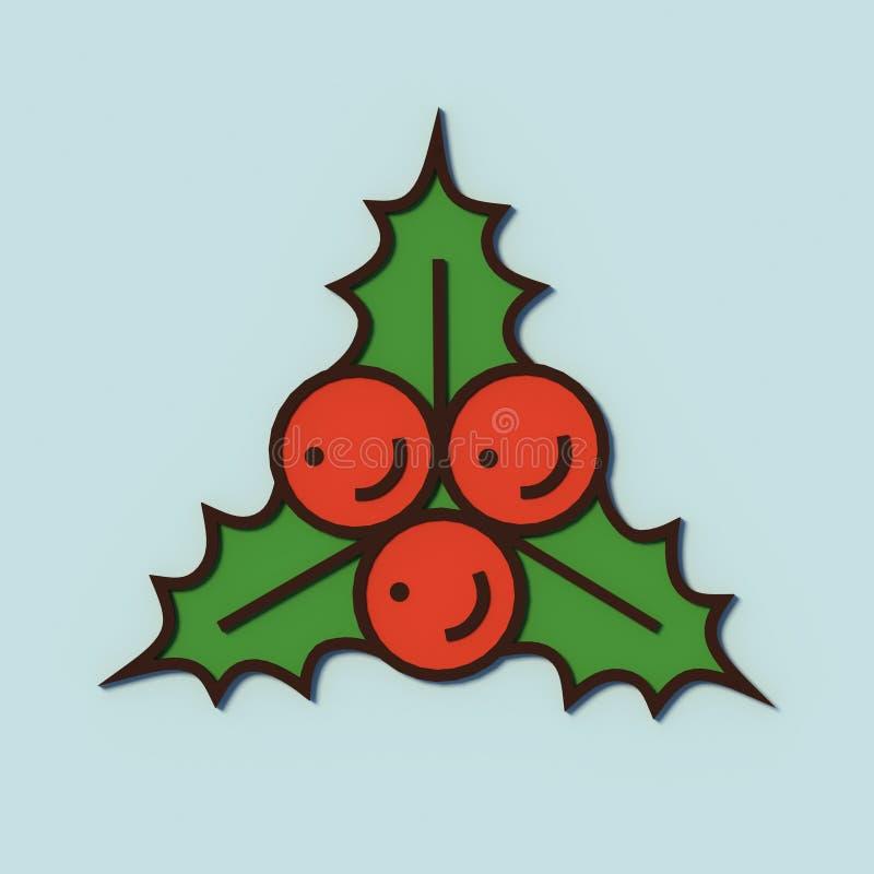 Χριστούγεννα και νέες απεικονίσεις έτους για τις διακοπές ελεύθερη απεικόνιση δικαιώματος