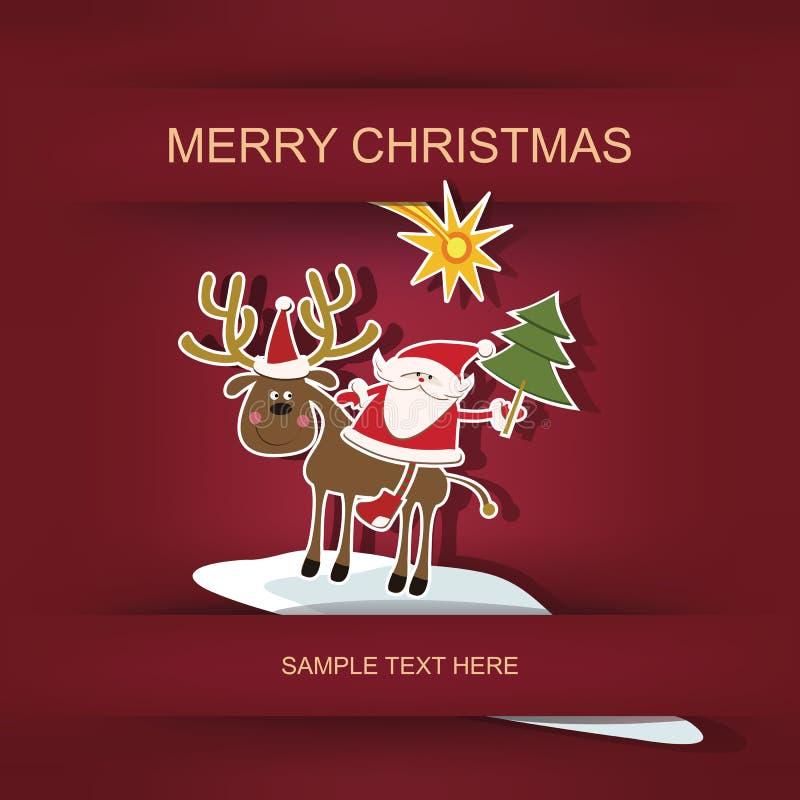 Χριστούγεννα και νέο έτος διανυσματική απεικόνιση