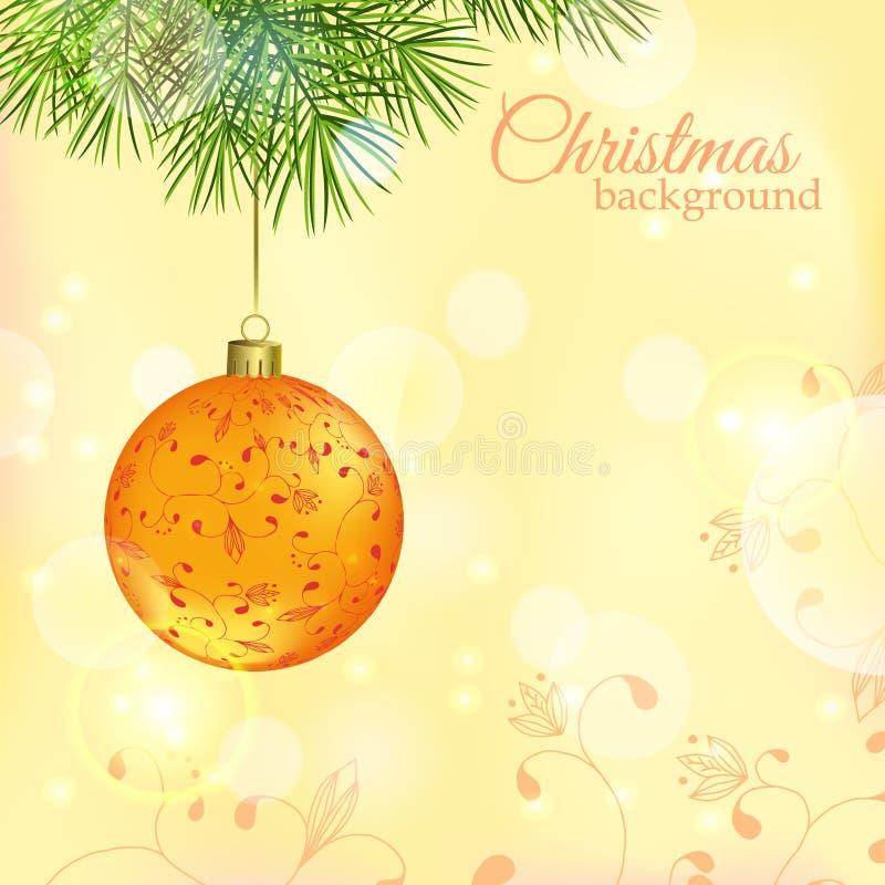 Χριστούγεννα και νέο διανυσματικό υπόβαθρο έτους στοκ εικόνες