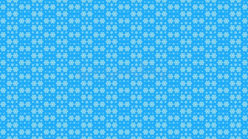 Χριστούγεννα και νέο σχέδιο έτους, άσπρα snowflakes σε ένα μπλε backg διανυσματική απεικόνιση