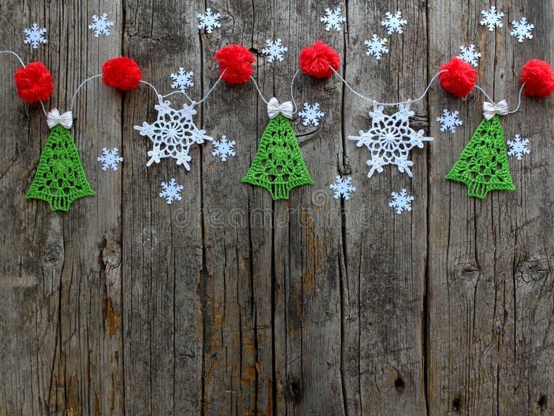 Χριστούγεννα και νέο φυσικό ξύλινο παλαιό κατασκευασμένο υπόβαθρο έτους στοκ φωτογραφία με δικαίωμα ελεύθερης χρήσης